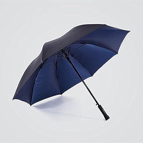 KHSKX Grande ombrello blu degli uomini di colore, semi-automatico doppio