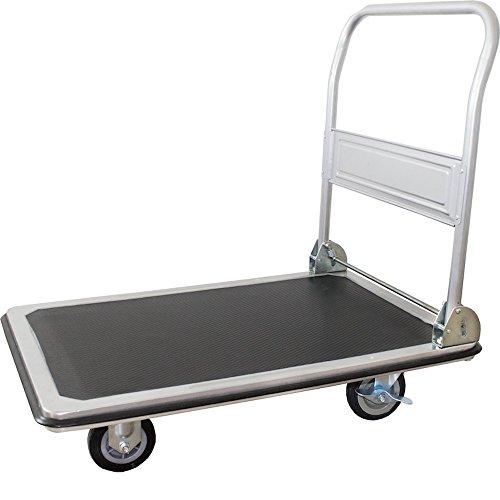 pro-bau-tec 14005Plattformwagen, 250 kg, anthrazit-grau