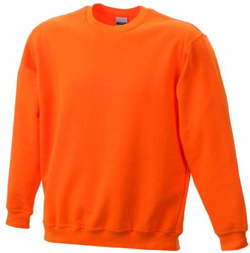 James & Nicholson Jungen Sweatshirt Sweatshirt Round Sweat Heavy Junior Orange (Orange)