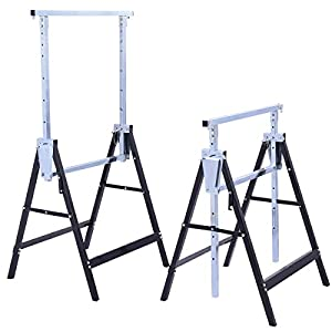Costway 2 x Telescopic Trestle Builders Carpenter Work Bench Saw Horse Folding Tools