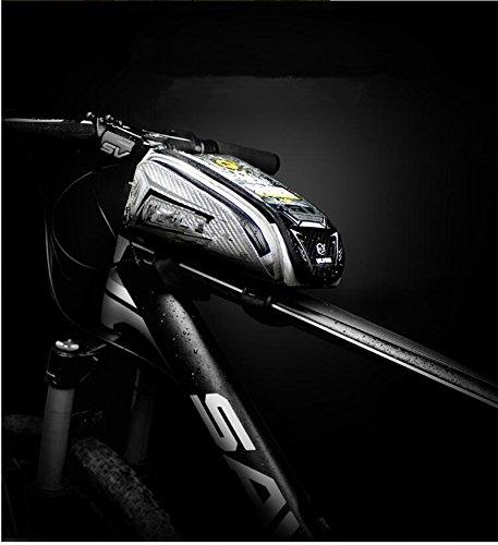 FAN4ZAME Fahrradtasche Rohrbündel Vorderer Träger Pack Handy Tasche Wasserdicht Touchscreen Mountainbike Sattel Tasche D