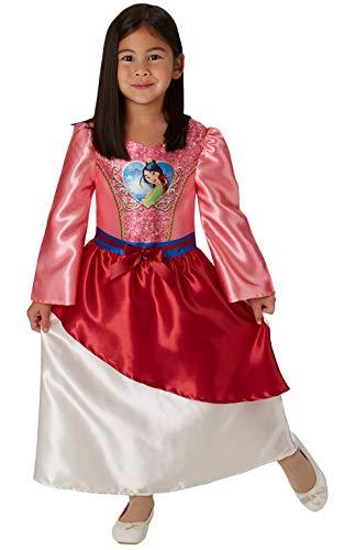 Rubie's Offizielles Disney Prinzessin Pailletten Mulan Kostüm für Kinder