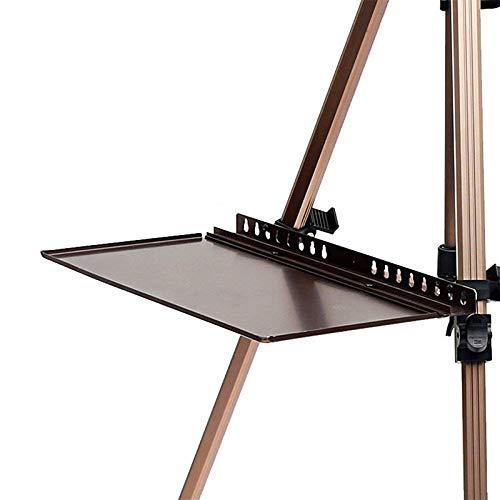 FYLFYLO Aluminium Ersatz Staffelei Tablett Skizze Aquarell Gouache Skizze Staffelei Metall Tablett Skizze Platzierung Rack -