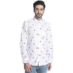 Jack & Jones Men's Casual Shirt (5713235797526_12115493White_Medium)