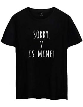 SIMYJOY Pareja Bangtanboys Fans Camiseta Jimin V JUNG KOOK SUGA J-HOPE BTS Fans Tshirt KPOP Cool Top para Hombre...