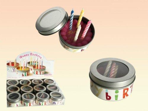 Kerze to go Happy Birthday - Dosenkerze