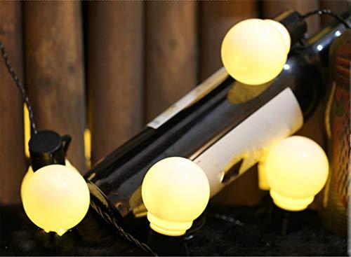 MR.MO Halloween, Weihnachts-LED-Schnur-Lichter, Raum-Schnur-Lichter, Sphärisches Licht, Warmes Weiß, Batteriebetrieben,1.2M 10Lampenkugeln,Outdoor, Indoor, dekorative Leuchten