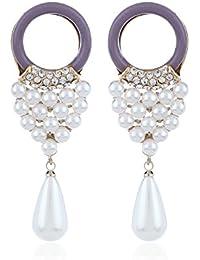 Fasherati Mauve Perle Quaste Ohrhänger für Frauen