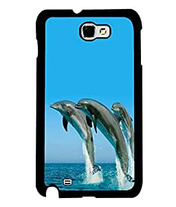 printtech Nature Water Dolphin Back Case Cover for Samsung Galaxy Note 2::Samsung Galaxy Note 2 N7100