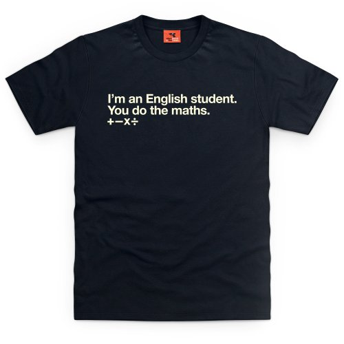 English T-Shirt, Herren Schwarz