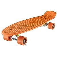 Ridge Skateboards Children Kids Big Brother Large Retro Cruiser Orange Wheels, 27 Inch