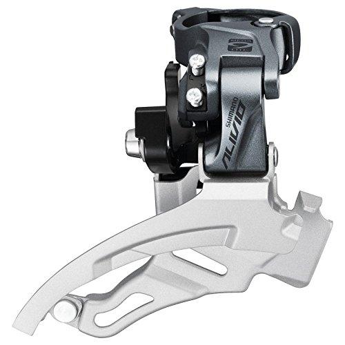 Shimano Umwerfer 'Alivio' FD-M4000, Down-Swing, Dual Pull, 31,8 mm, 66-69°, 9-fach, grau/silber (1 Stück) -
