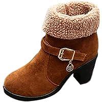 Botas de Mujer K-youth Botas Mujer Invierno Altas Tacon Moda Zapatos Mujer Otoño Botines Mujer Zapatos Altos Talones Botas Martin Botas para Mujer Botas de Nieve para Mujer Calientes