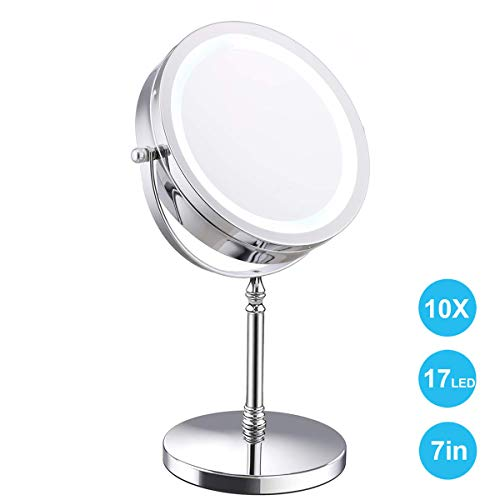 ClearView LED Iluminado Espejo Mesa 12