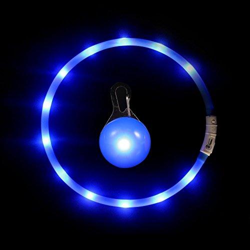 Hunde Leuchthalsband LED Halsband Hundehalsband Hunde, Individuell Kürzbar, USB Aufladbar, Kabel im Lieferumfang Enthalten,mit ein geführtes Hundehalsbandlichtein Geführtes Hundehalsbandlicht (Blau) (Led-hundehalsband Usb Aufladbare)