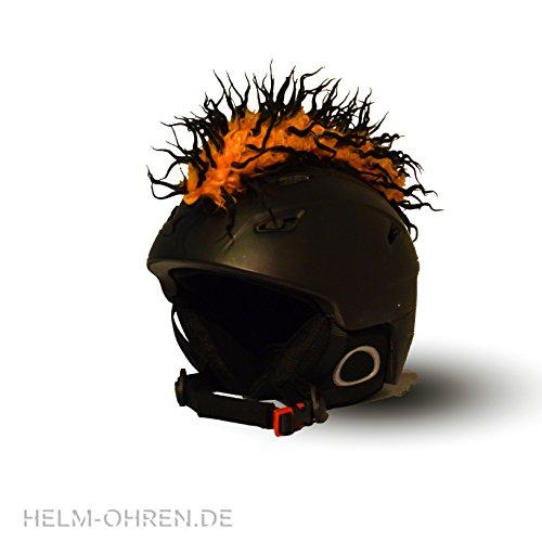 Helm-Irokese für den Skihelm, Snowboardhelm, Kinderskihelm, Kinderhelm, Motorradhelm oder Fahrradhelm - - Der HINGUCKER - Der etwas auffälligere Helm-Aufkleber - für...