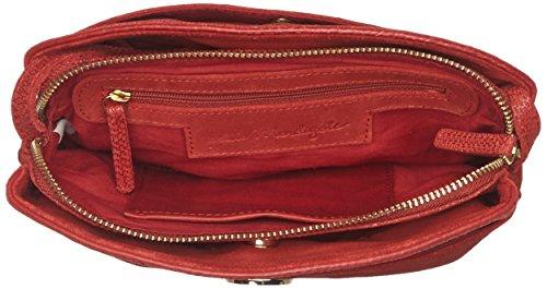 Petite Mendigote Corail, Borsa A Tracolla Donna Rossa - Rouge (bossa)