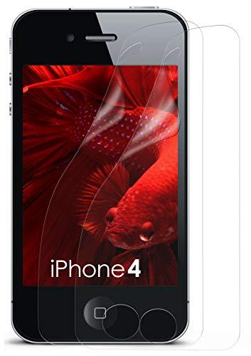 Schutzfolie Klar Display Schutz [Crystal-Clear] Screen Protector Bildschirm Handy-Folie Dünn Displayschutz-Folie für iPhone 4/4S Displayfolie ()