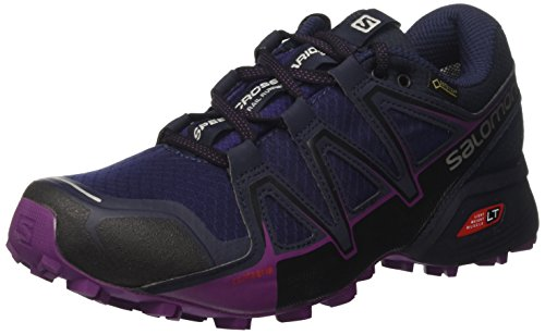 Salomon Speedcross Vario 2 GTX, Calzado de Trail Running, Impermeable para Mujer, Morado (Astral Aura/Navy Blazer/Grape Juice), 37 1/3 EU