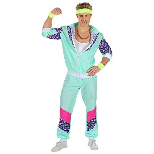 Trainingsanzug   Türkis in Größe S (48)   Lässiges Männer-Kostüm Jogging-Anzug Proll   Perfekt geeignet für Fasching & Bad Taste Party ()