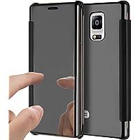 Preisvergleich für Galaxy Note 5 Hülle,Galaxy Note 5 Spiegel Ledertasche Handyhülle Brieftasche im BookStyle,SainCat Überzug Mirror...