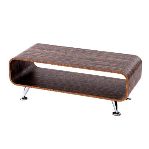 Mendler Couchtisch HWC-B97, Loungetisch Club Tisch, 34x90x39cm ~ Zebra Dunkelbraun (Dekorationen Tisch Zebra)
