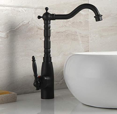 Rubinetto miscelatore lavabo il rubinetto nero classico europeo e il rubinetto della cucina possono essere ruotati a 360 rubinetti
