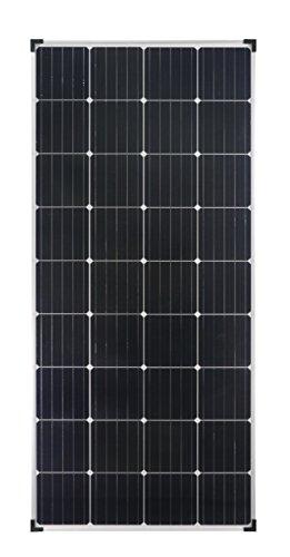 enjoysolar® Module solaire monocristallin 150W 12V Panneau solaire mono 150W idéal pour le jardin, camping-car, caravane