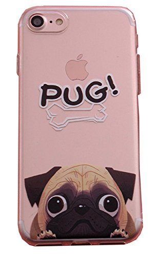 Onix Store Pug Dog Case for iPhone 7/8, TPU Silicone