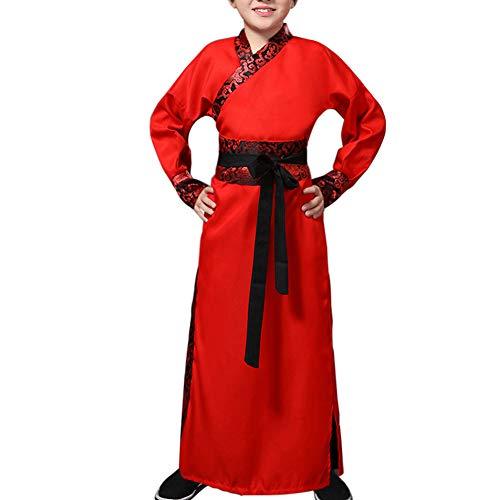 raditionell Hanfu - Jungen Historisch Bühne Kostüm Challenger Kostüm Kulturell Schwertkämpfer Festival Schule Cosplay Theater Trachten ()