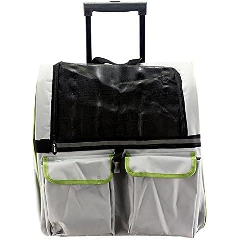 casa Monopoli Zaino Doggy Bag Portable Pet Trolley / animale doppia cassa del carrello / animale uscire - Gray