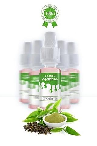 Grüner Tee Lounge Aroma Eliquidlounge 5 x 10 ml / 100 ml PET-Flasche Größe 100ml