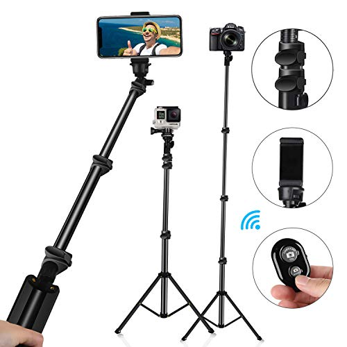 MACTREM Selfie Stick Phone Tripod - Selfie Sticks 52 Inch Extendable, Stable Tripods Stands with Wireless Remote for Smartphone Gopro iPhone X XS 7 8 Plus,Samsung Galaxy Huawei (52inch) (52)