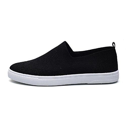 Herren Atmungsaktiv Flache Schuhe Licht Lazy Schuhe Laufschuhe Freizeitschuhe Black