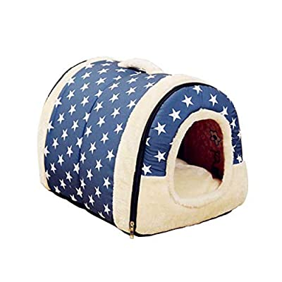 GWM Pet Bed, Cat nest, winter warm cat sleeping bag washable folding cat house cat supplies by GWM
