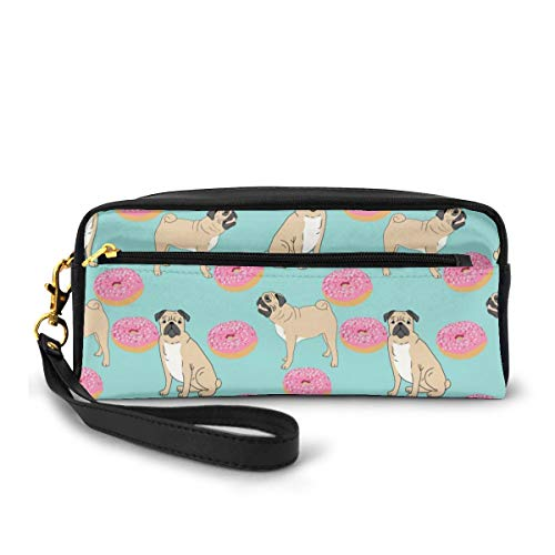 Pug Donuts Portable Travel Toiletry Bag Makeup Organizer Cosmetic Bag Pouch For Women Girl