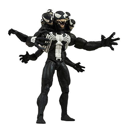 SONGDP Anime-Spielzeug Anime Charakter Modell Venom 20cm Schlachtung Spider-Man mit austauschbaren Kopf, Handteile Ersatz Puppe Spielzeug Geschenk Modell Ornamente Anime-Statuen (Venom-kopf)