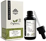 Neem Oil (Certified Organic) - Aroma Tierra - Fights skin & scalp infections, Boosts hair growth, Skin-care, Hair-care - 30m