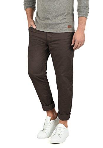 Blend Tromp Herren Chino Hose Stoffhose aus 100% Baumwolle Regular Fit, Größe:W34/32, Farbe:Coffee Brown (71507) (Knopf Vorne Herren-kleiner)