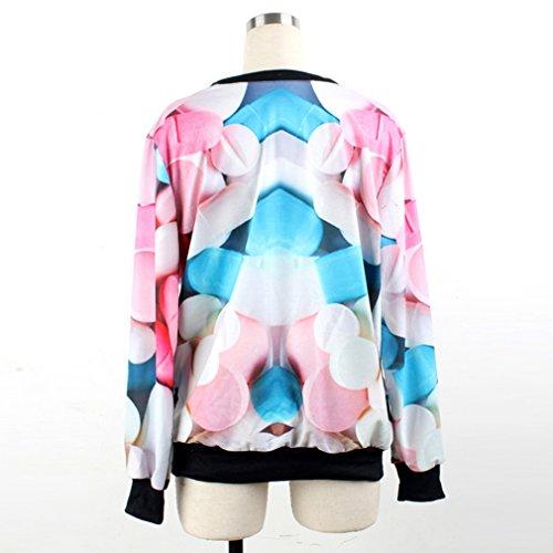 Thenice Pull à imprimé numérique pour femme Sweat-shirt - Pill
