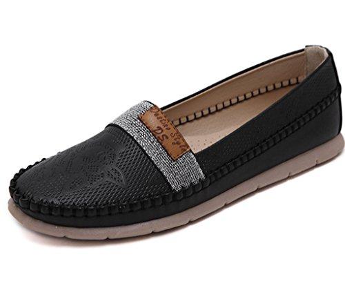 Minetom Femmes Décontractée Plates Chaussures Confortable Orteil Fermé Chaussures Business Loisir Loafers Chaussures
