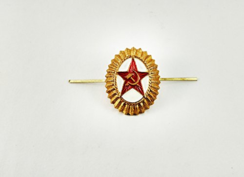 Russian Army Oval Pin Cockade Badge Soviet USSR Military Hat Cap Kokarda
