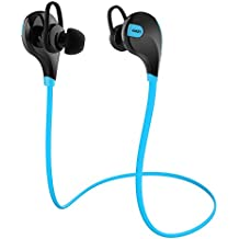 AUKEY Auriculares Deportivo Bluetooth In-Ear, Micrófono Incorporado Compatible con iPhone, iPad, Samsung, Teléfono Móvil de Siatema iOS y Android (EP-B4, Azúl)