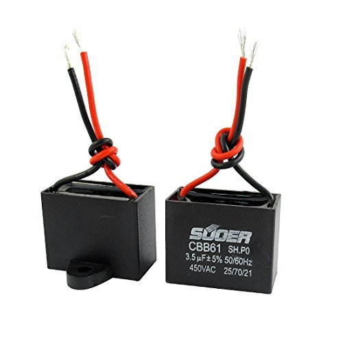 2pcs AC 450V 3.5uF 5% Ventilador De Techo eléctrico Correr Condensador CBB61