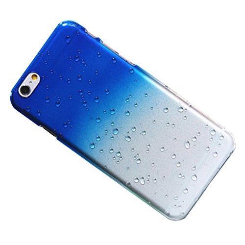 Telefon-Kasten - SODIAL(R) 1X Zubehoer Set fuer Apple iPhone 6 4.7 Zoll Rain Drop Hard Kunststoff Transparent Regentropfen Tropfen Huellen Schutzhuelle Tasche Protection Case Protective Cover Schwarz marineblau