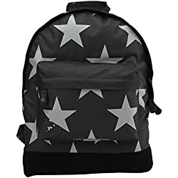Mi-PacMochila, diseño de estrellas, tamaño XL, color negro/gris, talla única