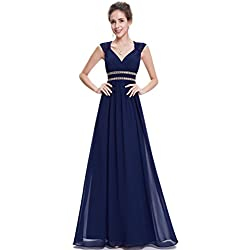 Ever-Pretty Vestido de Fiesta Manga Elegantes Coctel Fiesta Noche para Mujer 38 Azul Marino