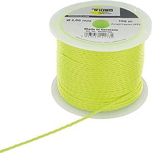 PP Bombilla cuerda 2,0mm x 100m Amarillo Fluorescente