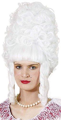 Lady Pompadour Wig. White (disfraz)