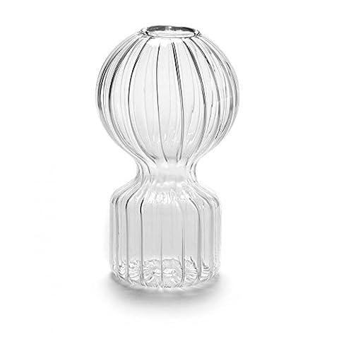 Vase en verre transparent, modèle Iki Doll S D7.5